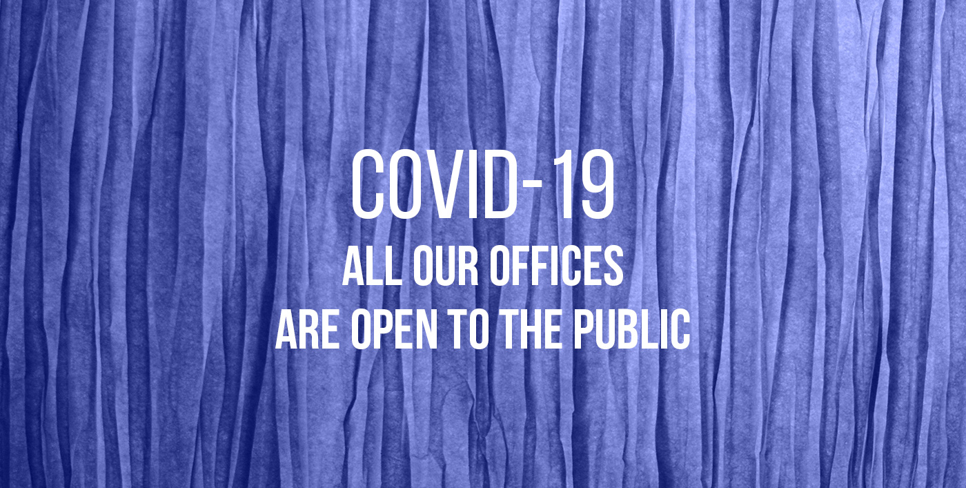 All our offices are open to the public